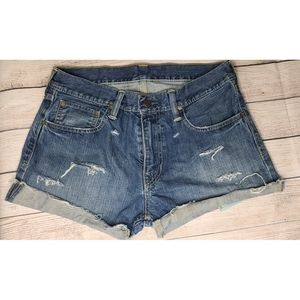 Levi's Distressed Cutoff Shorts